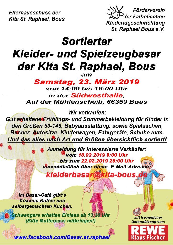 Plakat Kleiderbasar Frühjahr 2019